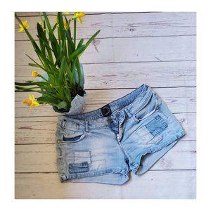 Distressed Denim Shorts Size 28
